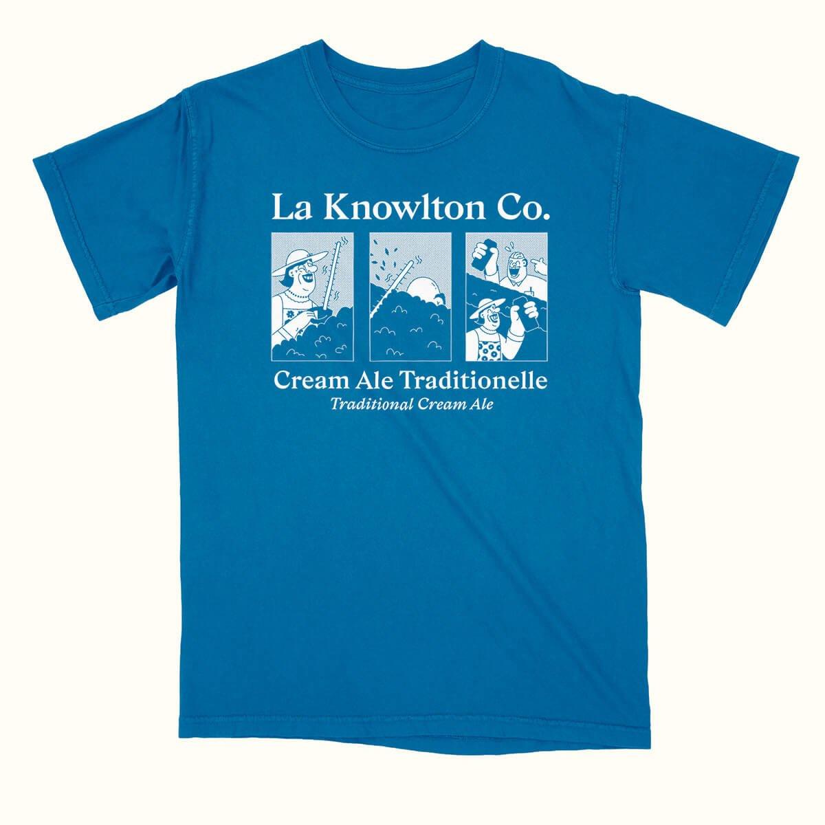 Blue Cream Ale T-Shirt - La Knowlton Co.