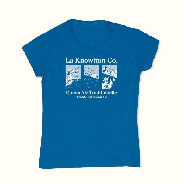 Blue Cream Ale T-Shirt for Women - La Knowlton Co.