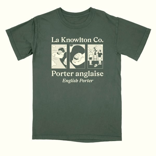 Green English Porter T-shirt - La Knowlton Co.