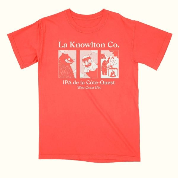 Red West Coast IPA T-Shirt - La Knowlton Co.