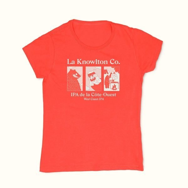 Red West Coast IPA T-Shirt for Women - La Knowlton Co.