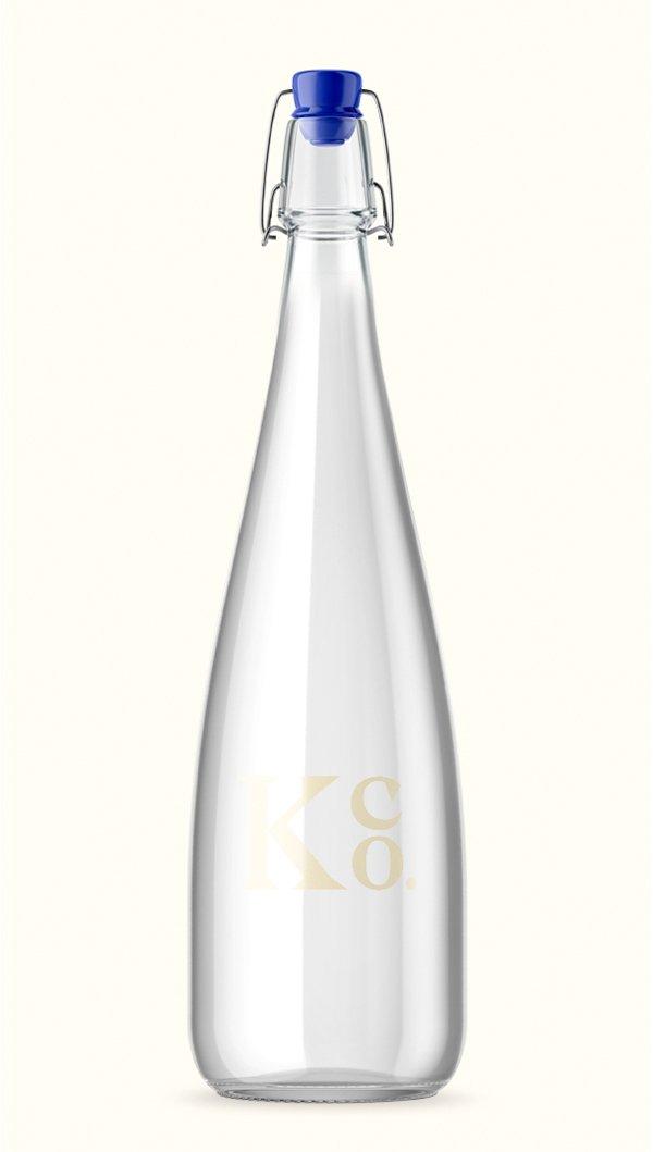 Glass Water Bottle - La Knowlton Co.