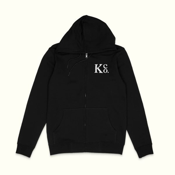 Black Zip Up - La Knowlton Co.